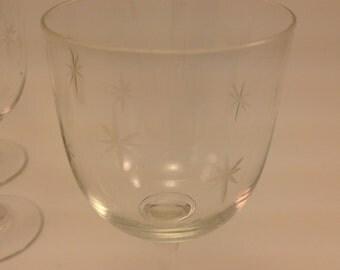 Etched starburst etsy - Starburst glassware ...