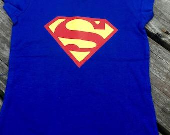 Superman inspired shirt - Supergirl Shirt - Superhero Shirt