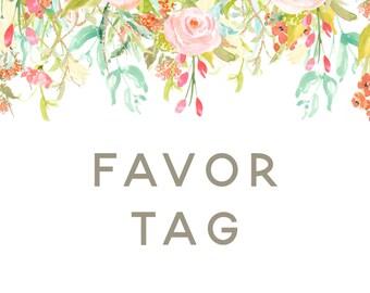 Custom Favor Tags