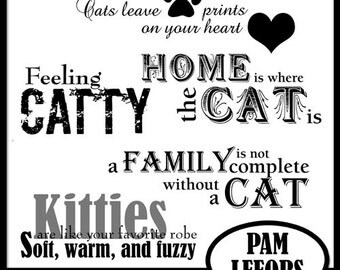Feeling Catty Word Art