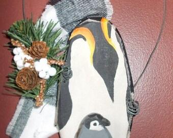 Penguin Door Hanger Etsy