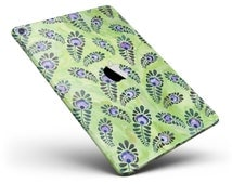 Purple and Green Watercolor Peacock Feathers Full Body Skin Decal for the Apple iPad Pro, Air or Mini (All Models Available)