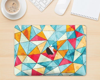 The Triangular Geometric Pattern Skin Kit for the Apple MacBook Air - Pro or Pro with Retina Display (Choose Version)