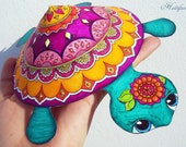 Mandala Turtle - Grown Up Coloring Papercraft & already colored