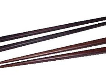 2 Sets of Asian Wooden Chopsticks 1 Teak and the other Rosewood