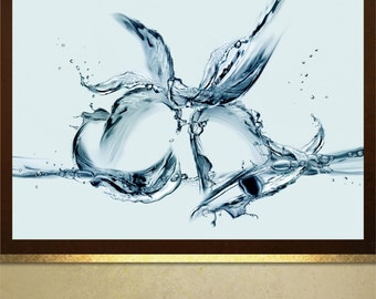 Abstract Water Bells poster print wall art decor