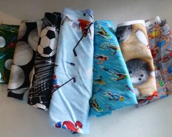 Cotton Fabric Scraps,Sports Fabric Pieces, Fabric Scraps, Remnants, Scrap Bag, Fast Shipping,S164