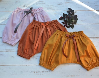 Baby Bloomers Cotton Cinnamon Honey Dusty Pink