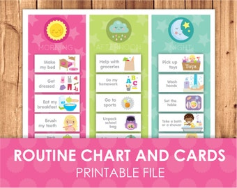Daily Routine Printable Chart & Cards