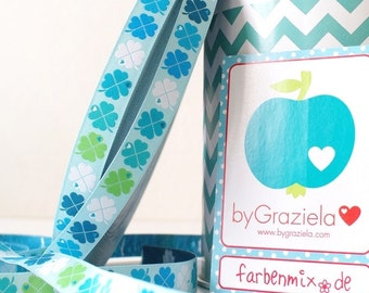 Ribbon color mix ByGraziela clover, mint