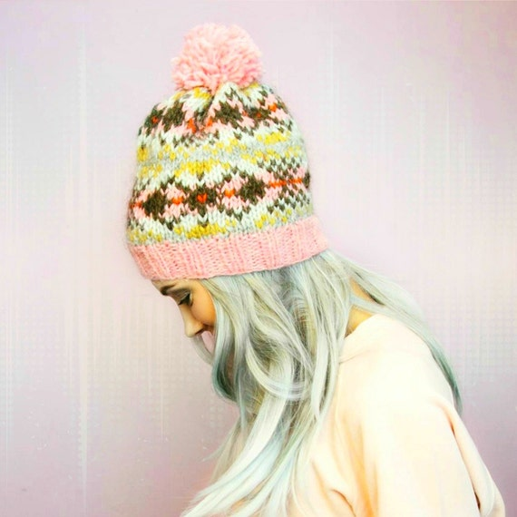 PDF Knitting Pattern Fair Isle Icelandic Wool Hat Pattern