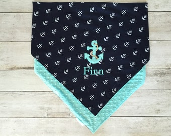 Anchor Nautical Baby Blanket: Make your own!