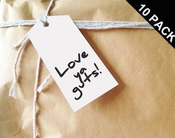 Love ya guts! Gift Tags. Pack of 10.