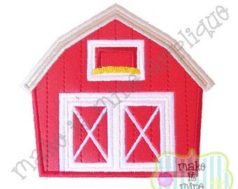 Applique Farm Barn Machine Applique Design