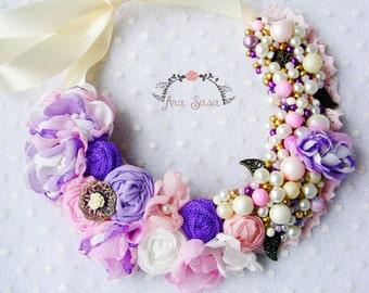 flower necklace/beads necklace/statemnet necklace