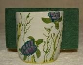 Sponge Holder, Turtles, Sea Life, Kitchen, Home Decor, Sky Blue, Stoneware, Hand Made, Hand Painted