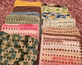 Cotton Dish Cloths Crocheted with 100% Cotton Thread