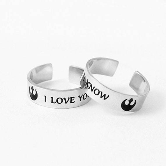 i love you i know wedding rings i you i ring set stainless steel by 5049