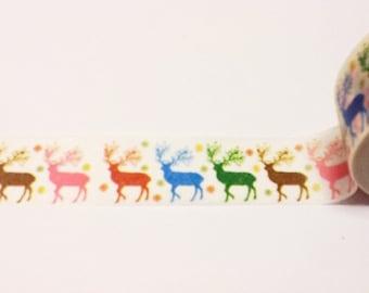 Reindeer Washi Tape, Christmas Washi Tape, Washi Tape, Planner Washi, Scrapbooking