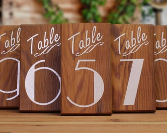 Rustic Wedding Decor, Table Numbers, Wedding Table Markers, Old Pine Markers