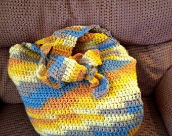 Large, HOBO / Market Bag, Sunrise colors