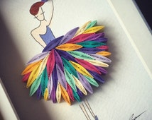 """Quilled Paper Art: """"I wanna dance with somebody!"""""""