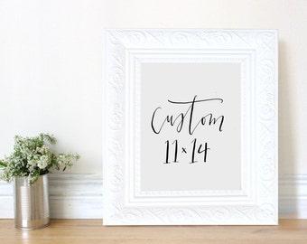 custom 11x14 print