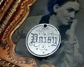 Love Token Engraved Daisy