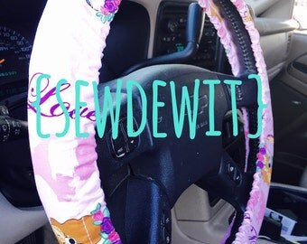 Steering Wheel Cover Lady and the Tramp Pink Disney - Cute Car Accessories Great Gift Idea