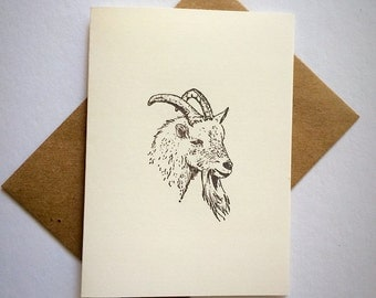 7 Goat blank note cards and envelopes. All occasion cards .