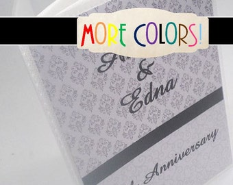 Anniversary Photo Album Personalized photo album wedding photo Album Bridal Shower Gift engagement photo album book black damask 4x6 5x7 013