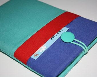 iPad Mini Retina Case, iPad Mini 4 Sleeve, iPad Mini Case, Padded 7 inch Tablet Cover with Pocket -Blauw Agua Rood