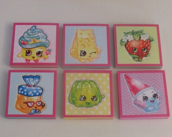 Shopkins Set #3  Note Pads Set of 6 - Excellent Party Favors - Shopkins Birthday - Shopkins Party Favors - Shopkins Mini Note Pads
