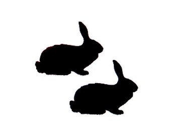 Chalkboard Decal Bunny You Pick Size Chalkboard Favor Label Mason Jar Label Glass Decal Drink Cup Decal Easter Favor Bunny Sticker