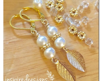 White Pearl Leaves Gold