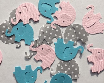 Baby Shower Decor | Baby Shower Confetti | 100 | It's A Girl | It's A Boy | Rustic Baby Shower | Elephant Confetti | Party Decor | Birthday