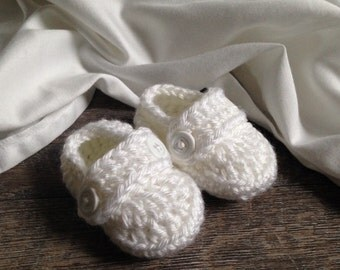 Christening Shoes, Boy Christening Shoes, Girl Christening Shoes, Baby Dedication, Baptism Booties, Handmade Crochet Booties,