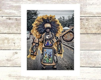 SPY BOY - New Orleans Mardi Gras Indians-Fine Art Photograph-Limited  edition of  250