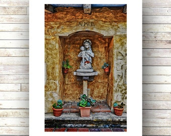 MOTHER and CHILD -Carmel Mission - Monterey Peninsula -17 mile drive - Landscape Photography -Fine Art Photograph-Limited Edition of 250