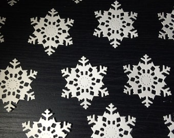 10 Snowflake Die Cut Shapes!!! Ideal for cards and scrapbooking.