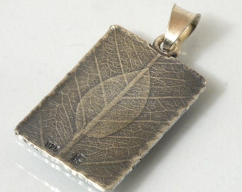 Leaf Necklace Pendants Silver