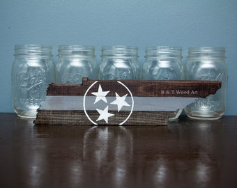 State of Tennessee Wood TriStar