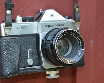 1970's 35mm Camera Argus Cosina STL 1000 with Case - F=1.8/f=50 - Vintage Photography