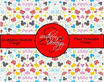 Disney Inspired Craft Vinyl and Heat Transfer Vinyl Pattern Disney 17