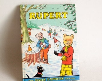 Vintage 1974 Daily Express RUPERT the Bear Annual