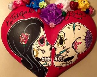 Eternal Love Sugar Skull Heart