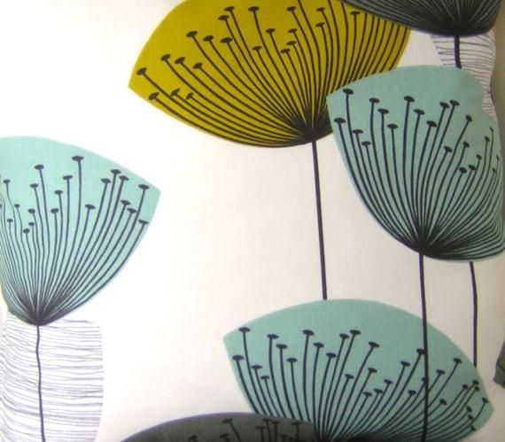 Cushion Cover - Sanderson Dandelion Clocks Fabric - Chaffinch