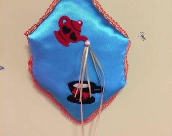 Alice in Wonderland Inspired Ring Pillow
