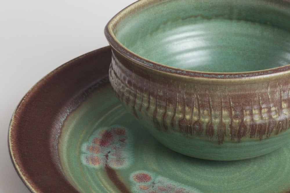 Stoneware dishes plate set dining kitchen ceramic dishes for Kitchen dish sets