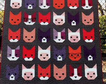 The Kittens - Lap Quilt Pattern -  Designed By: Elizabeth Hartman